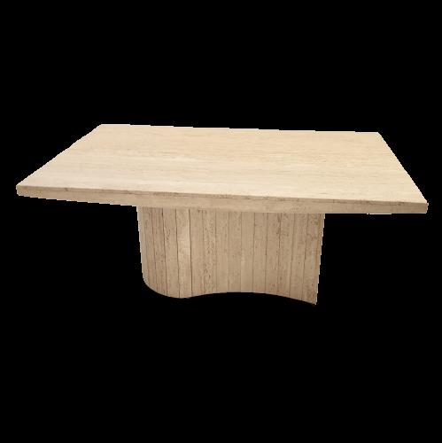 Travertine dinning table